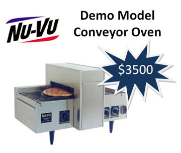Demo Model Nu-vu Conveyor Oven